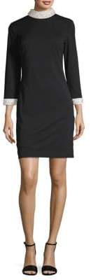 Karl Lagerfeld Paris Faux Pearl-Embellished Sheath Dress