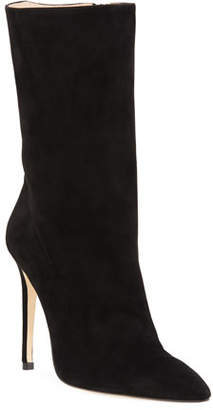 Alexandre Birman Cuba Suede Pointed-Toe Booties