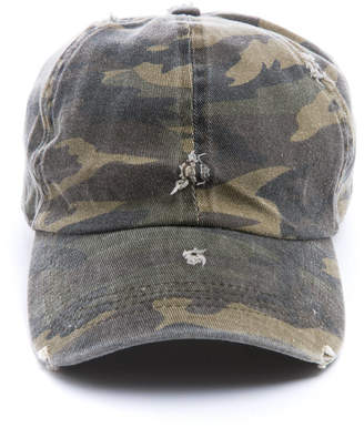 Distressed Camo Baseball Hat