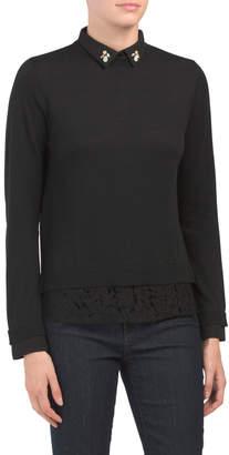 Love Token Collared Twofer Sweater