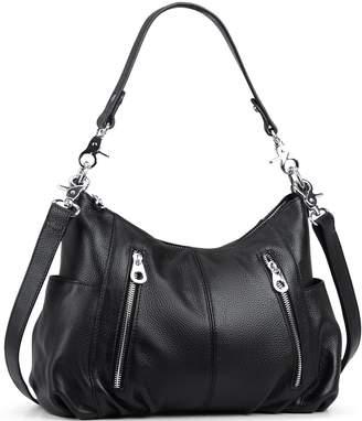 43cb6908cb HESHE Women s Leather Shoulder Handbags Cross Body Bags Hobo Totes Top  Handle Bag Satchel and Purse