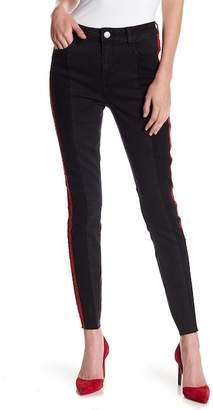 Romeo & Juliet Couture Side Stripe Paneled Denim Jeans