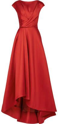 Jason Wu Asymmetric Wrap-effect Taffeta Gown - Red
