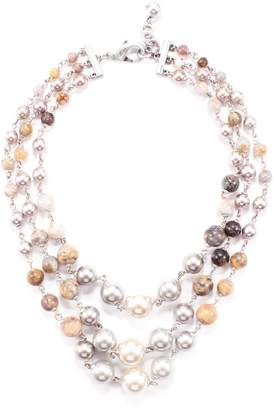 Lulu Frost Lustre Agate Triple Strand Necklace