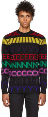 Givenchy Black Multicolor Logo Sweater