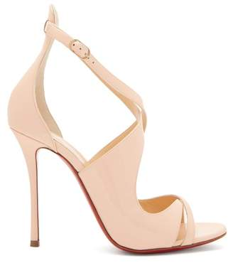 Christian Louboutin Malefissima 125 Patent Leather Pumps - Womens - Light Pink