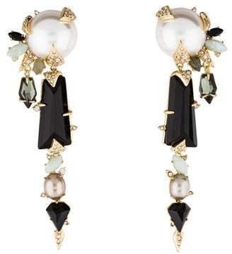 Alexis Bittar Faux Pearl & Crystal Clip-On Earrings