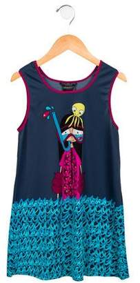 Little Marc Jacobs Girls' Printed Swim Cover-Up