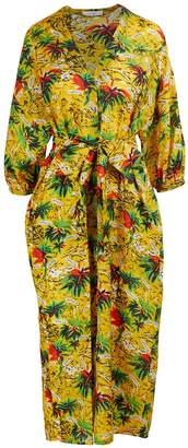 Roseanna Palm print dress