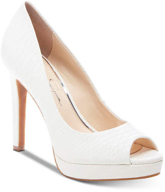 Jessica Simpson Dalyn Peep-Toe Platform Pumps Women Shoes