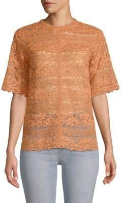 Valentino Sheer Lace Top