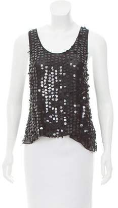 Emporio Armani Embellished Sleeveless Top