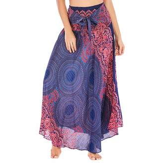 baeeb57fb2 Aritone - women clothes Womens 2 in 1 Bohemian Maxi Skirt Dress,Casual  Loose Hippie