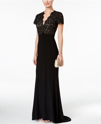 Betsy & Adam Lace Cutout-Back Gown $239 thestylecure.com
