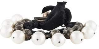 Lanvin Faux Pearl & Ribbon Bracelet