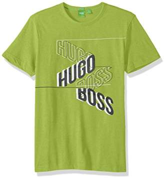 HUGO BOSS BOSS Green Men's Tee 2 with Mirrored Hb Artwork