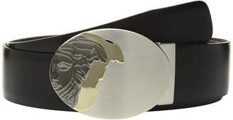 Versace Oval Medusa Plaque Buckle Belt