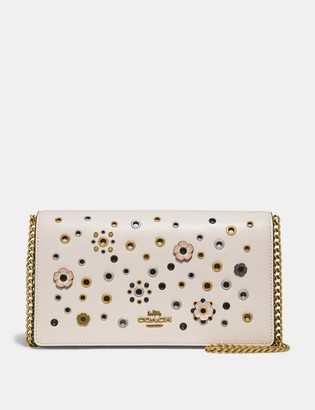 Coach Callie Foldover Chain Clutch With Scattered Rivets
