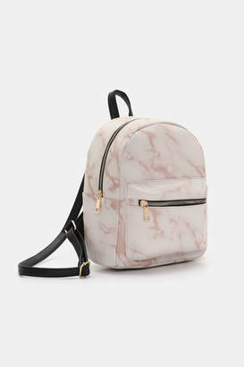 Ardene Marble Print Faux Leather Backpack