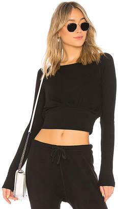 Spiritual Gangster Banded Crop Long Sleeve Top