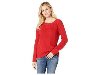 Lucky Brand Crew Neck Pointelle Sweater