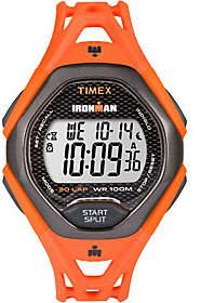 Timex Men's Ironman Sleek 30 Orange Strap Watch