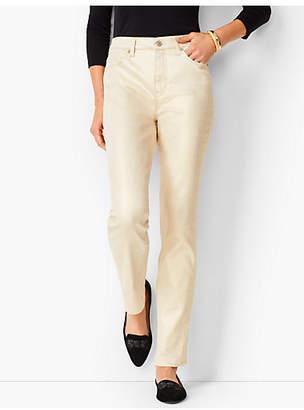 Talbots High-Rise Straight-Leg Jeans - Vanilla Sparkle