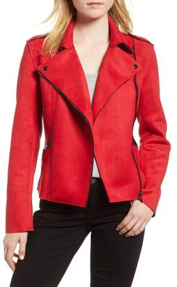 KUT from the Kloth Haddie Faux Suede Moto Jacket (Regular & Petite)