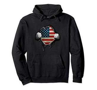 USA Flag Pullover Hoodie American Flag Hands