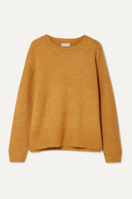 By Malene Birger Ana Rib-trimmed Knitted Sweater - Camel