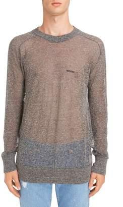 Givenchy Technical Linen Blend Crewneck Sweater