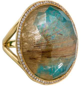Ippolita 18K Rock Candy Rutilated Quartz & Diamond Ring