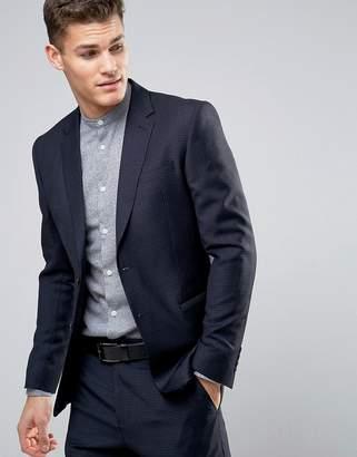 Reiss Slim Suit Jacket In Gingham Check