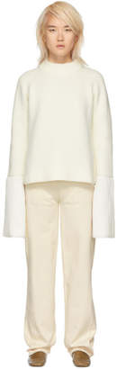 Jil Sander White Bell Sleeves Sweater