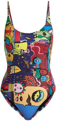 ELLIE RASSIA Old Fashioned-print swimsuit