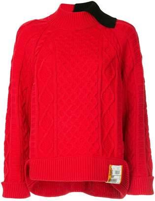 Miharayasuhiro cable knit jumper