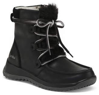 Jambu Waterproof Lace Up Leather Boots