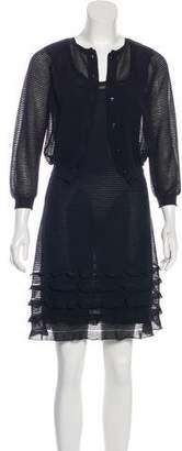 Valentino Rib Knit Dress Set