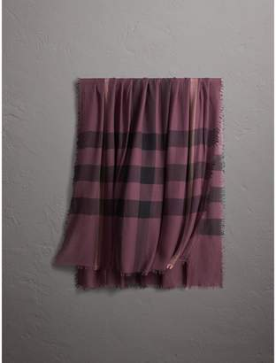 Burberry Check Modal Wool Scarf