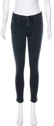 Gold Sign Mid-Rise Skinny Pants