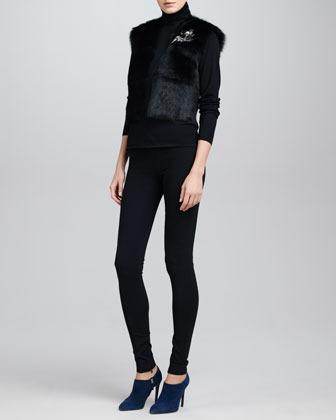 Ralph Lauren Heavy Jersey Leggings, Black