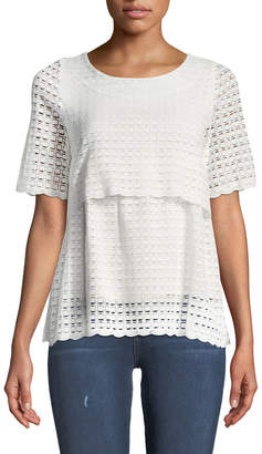 Lumie Double-Tiered Lace Tee