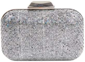 Jimmy Choo Silver Leather Clutch bags