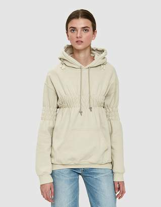 Collina Strada Smocked Earring Hoodie in Sand