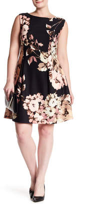 Taylor Tossed Floral Fit & Flare Dress (Plus Size)