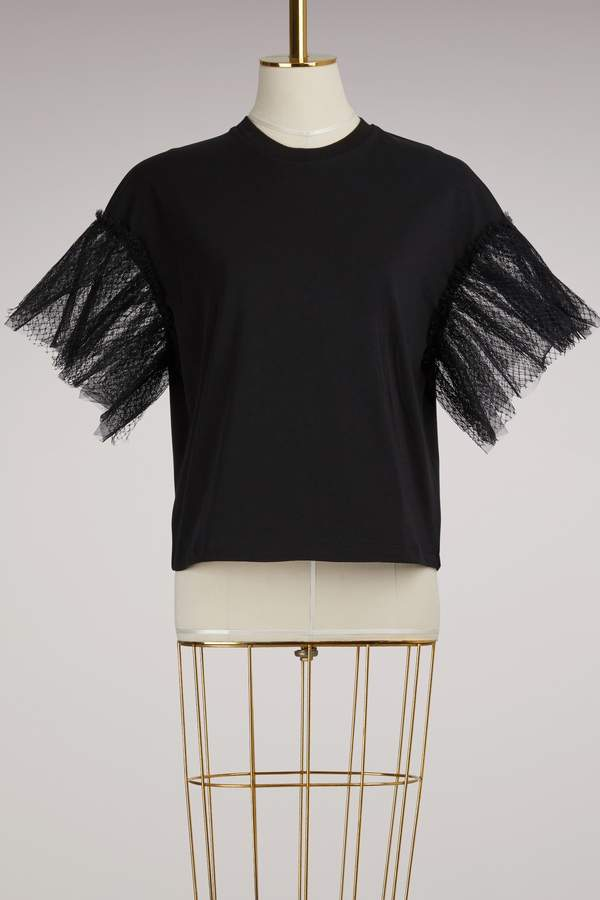 Msgm Tshirt with Tulle