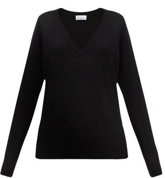 Raey V Neck Fine Knit Cashmere Sweater - Womens - Black