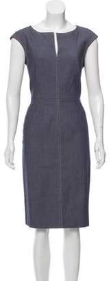 Paule Ka Chambray Sleeveless Dress
