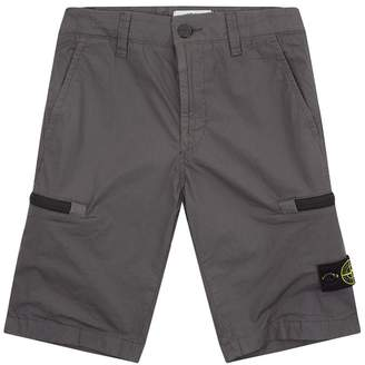 Stone Island Junior Cargo Logo Shorts