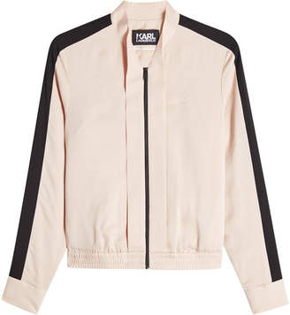 Karl Lagerfeld Zipped Silk Jacket